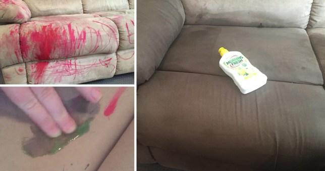 Как отмыть помаду с дивана
