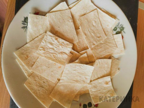 Рецепт чипсов из лаваша