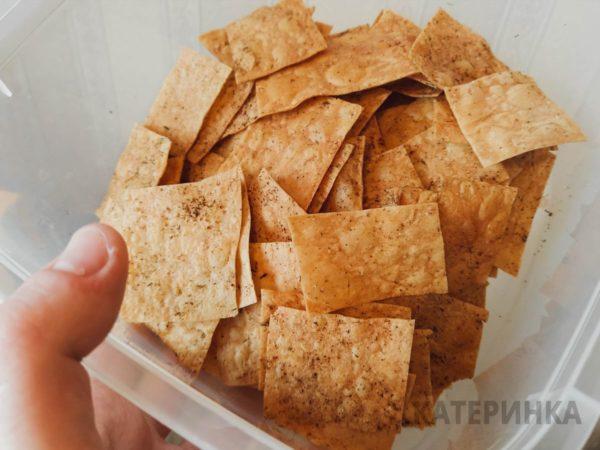 Готовые чипсы из лаваша