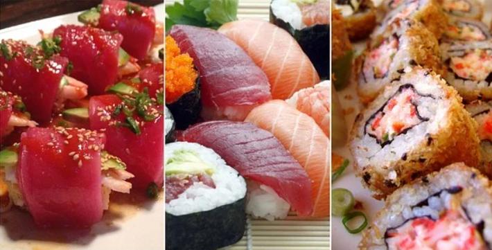 Разница между суши, роллами, сашими